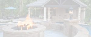 A-firepit-and-pool-house-by-Backyard-by-Design-Kansas-City