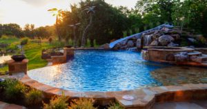 A vanishing edge pool from Backyard by Design Kansas City