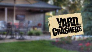 Yard crashers logo on background