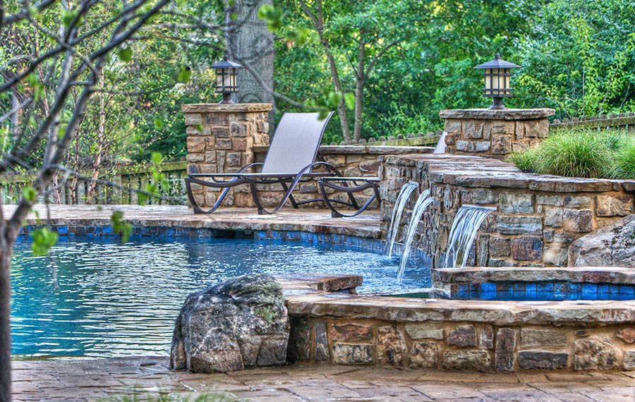 A Backyard Resort in Leawood Kansas KS designed by Backyard by Design