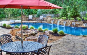 A Backyard Resort in Leawood Kansas KS designed by Backyard by Design