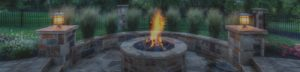 A fire pit and fire features from Backyard by Design KC