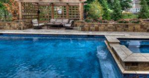 A beautiful Geometric Straight Line Pool from Backyard by Design