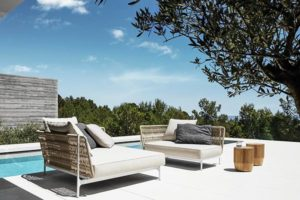 Gloster Luxury Outdoor Furniture sold by Backyard by Design KC