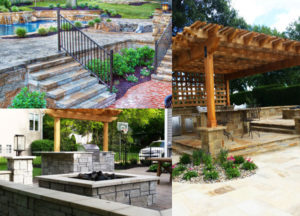 Hardscape, drainage, and patio design by Backyard by Design KC