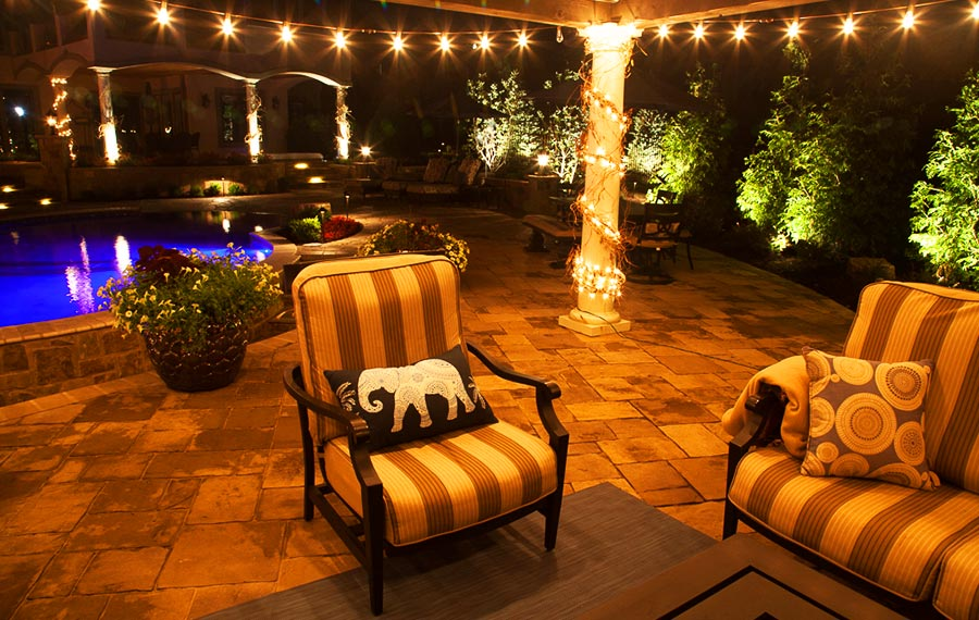 Outdoor lighting design by Backyard by Design Kansas City