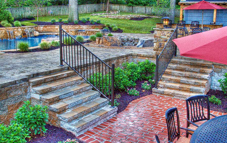 Patio built by backyard by design KC
