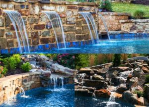 Waterscape waterfall and fountain design by Backyard by Design KC