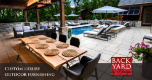 Custom luxury furniture from Backyard by Design in Kansas City